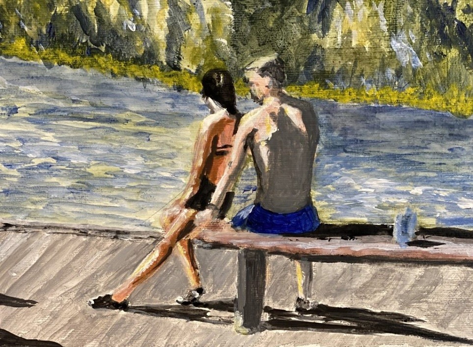 Social intimacy at the casting pond