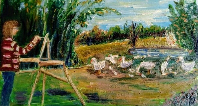 Painting with Geese