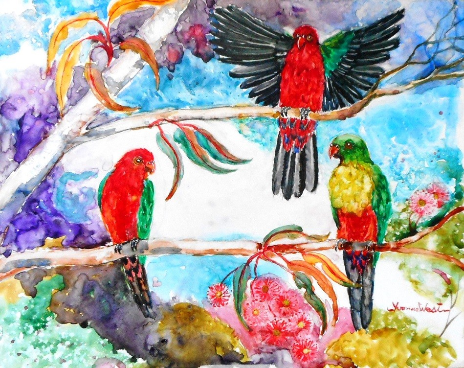 AOSE-Yvonne West-King Parrots-oiMgy