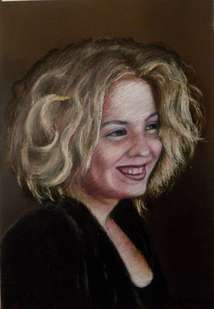 WF3528DPP Admiration – Ja39x27cmsmine Wood – Drawing in Pastel on Tex Paper by Bill Filson20200501HR-270x390mm 290dpi-50%-5l_NM