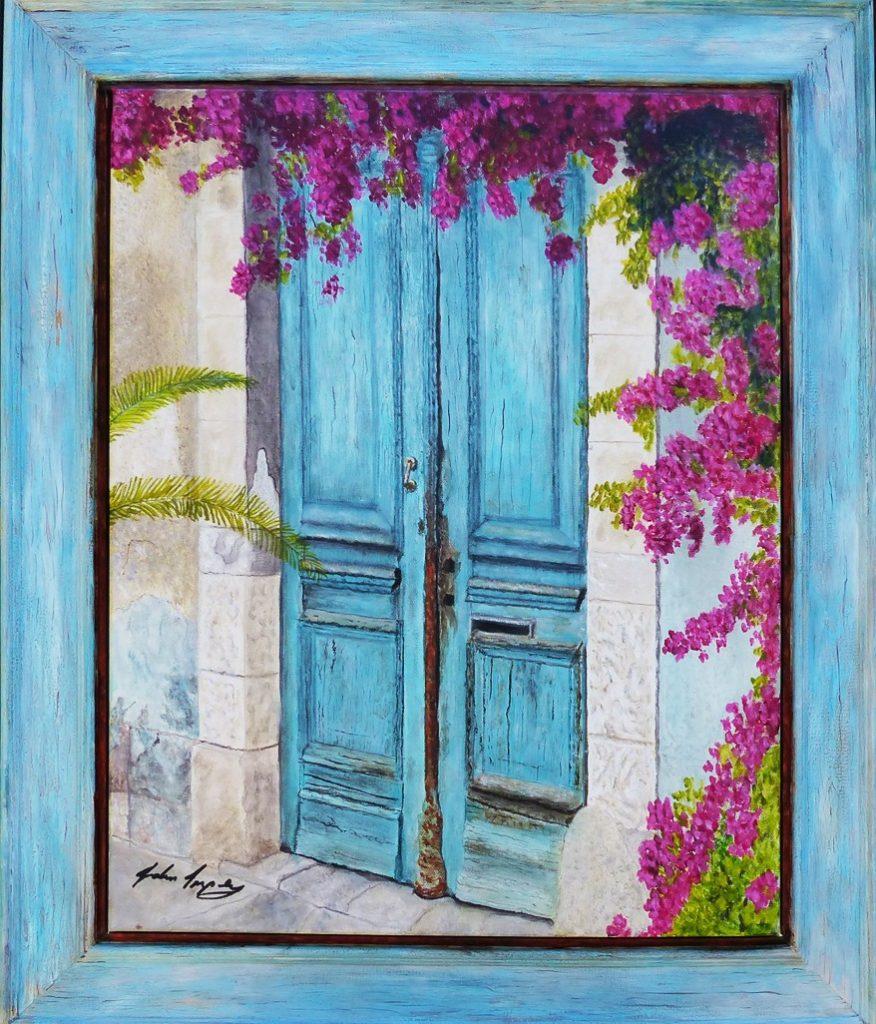 Door to past dreams 64 x 54 cm with frame jpg-_v3UR